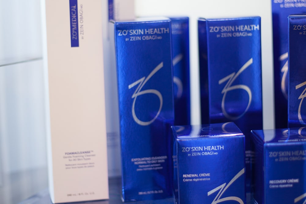 ZO Skin Health collection at our Stirling clinic