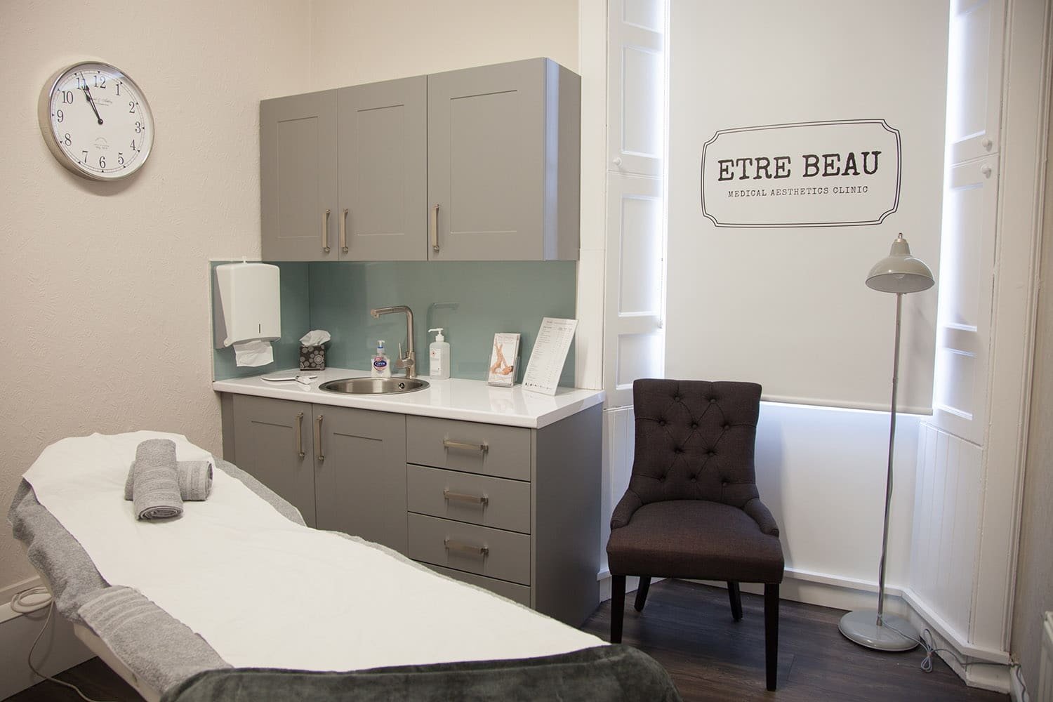 Our lip filler treatment room at our Stirling clinic