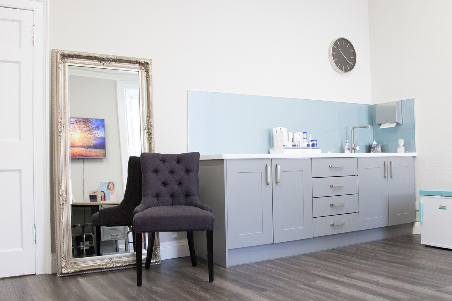 Our modern wrinkle treatment room at our clinic in Stirling