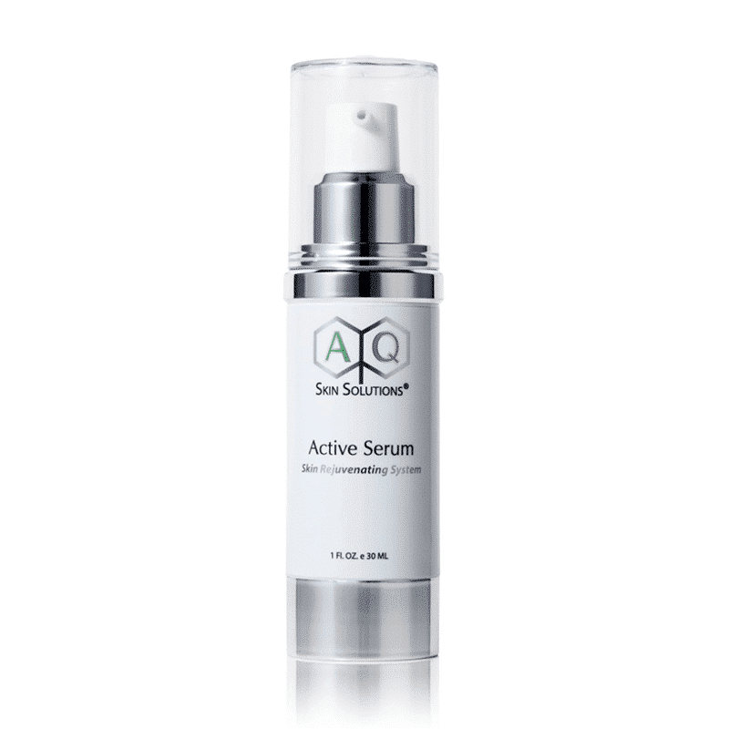 AQ Skin Solutions Active Serum sourced by Etre Beau in a 30ml bottle on a white background. Perfect for ageing